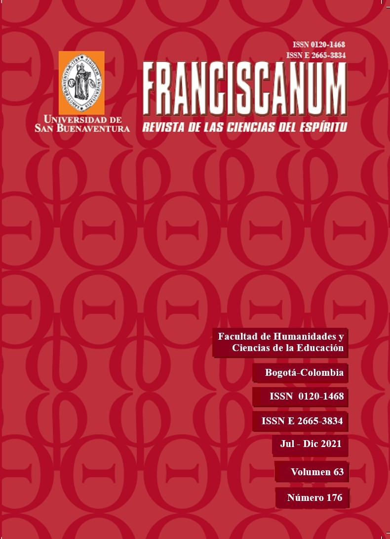 Ver Vol. 63 Núm. 176 (2021): Franciscanum 176